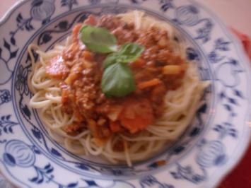 Spaghettini mit Bolognese à la Papa - Rezept