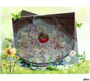Salate : Kartoffelsalat mit Gurke und Radieschen - Rezept