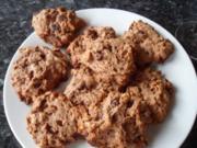 Schoko-Cookies mit Nüssen - Rezept