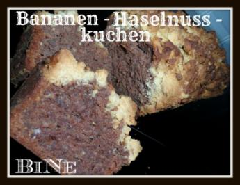BiNe` S BANANEN - HASELNUSSKUCHEN - Rezept