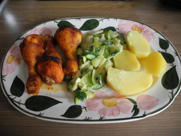 Gemüsebeilage : Zucchinigemüse - Rezept