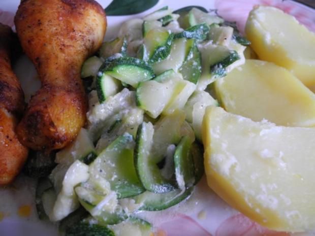 Gemüsebeilage : Zucchinigemüse - Rezept - Bild Nr. 2