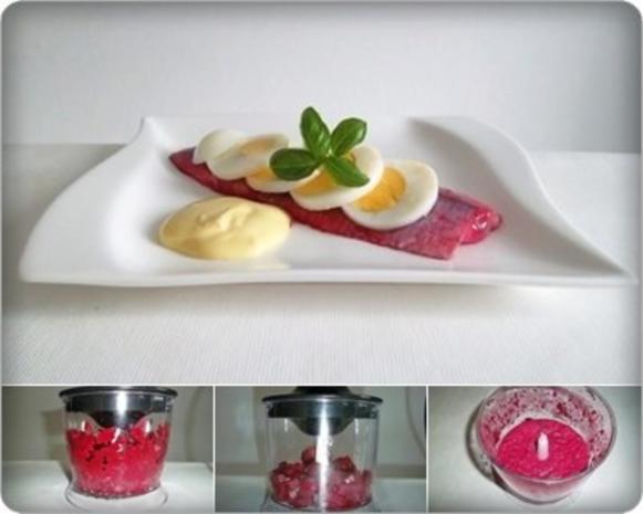Rote Matjesfilets mit Eierscheiben - Rezept - Bild Nr. 12