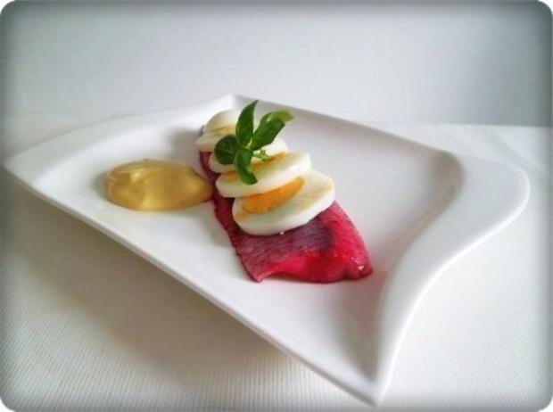 Rote Matjesfilets mit Eierscheiben - Rezept - Bild Nr. 13