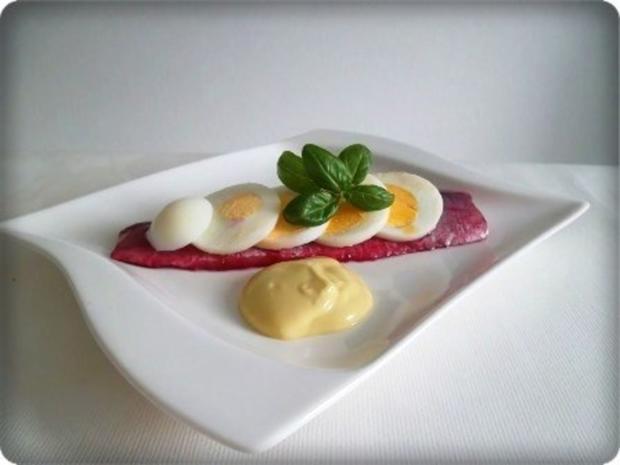 Rote Matjesfilets mit Eierscheiben - Rezept - Bild Nr. 14