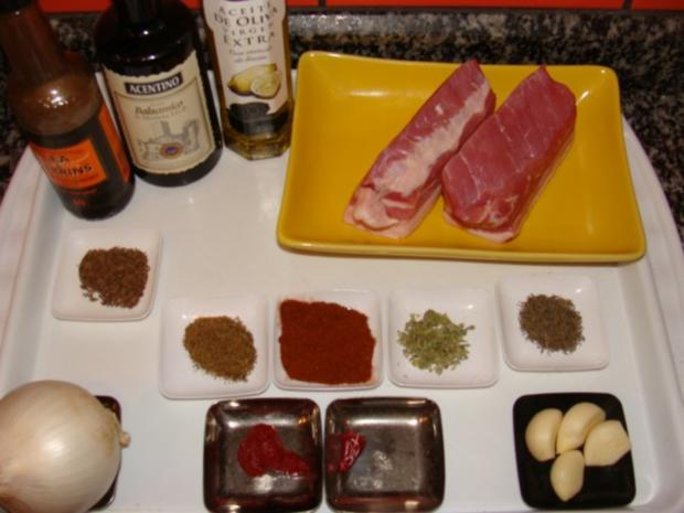 Fleisch : Ahab's Bajuwarischer Schweinebauch Gyros - Rezept - Bild Nr. 4