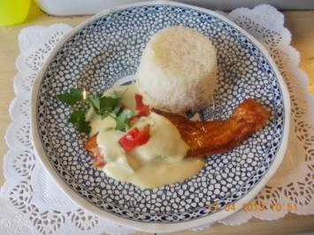 Lachsfilet mit Senf-Honig -Soße - Rezept