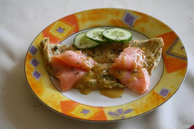 Kräuter-Pfannkuchen mit Räucherlachs - Rezept - Bild Nr. 2