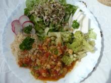 Gemüseteller mit Tofu und Cuscus - Rezept