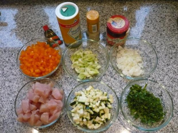 Bulgur mit Gemüse und Hähnchenbrustwürfeln (histaminarm) - Rezept - Bild Nr. 3