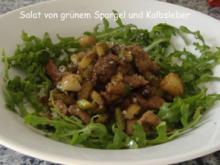 Grüner Spargelsalat mit Kalbsleber und altem Balsamico - Rezept