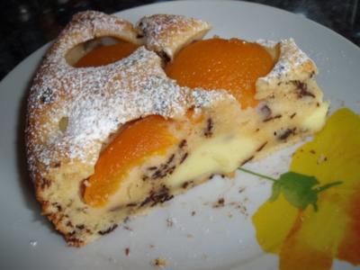 Aprikosen-Pudding-Ameisenkuchen - Rezept