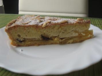 Apfel-Tarte mit Marzipan-Haube - Rezept