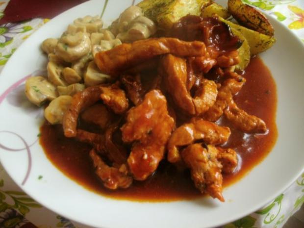 Schweinegeschnetzeltes in brauner Soße mit Rahmchampignons und Ofenkartoffeln - Rezept - Bild Nr. 18