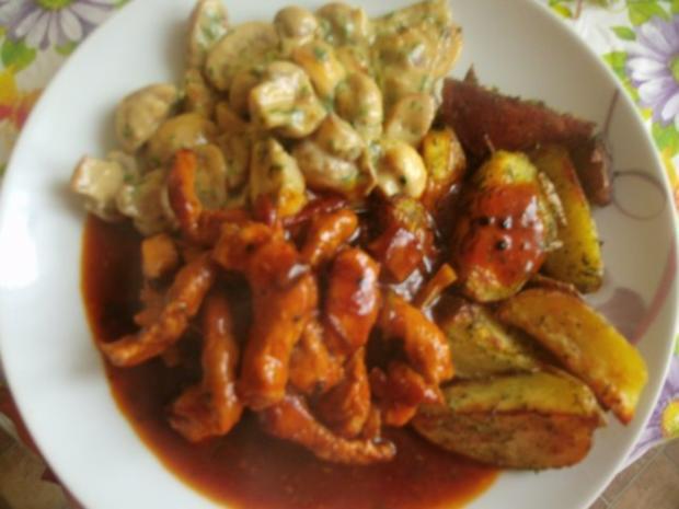 Schweinegeschnetzeltes in brauner Soße mit Rahmchampignons und Ofenkartoffeln - Rezept - Bild Nr. 19