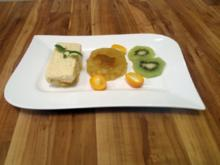 Zitronen-Quark-Creme mit Karamell-Apfel-Gelee - Rezept