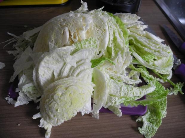 Gemüsebeilage : Wirsing in Sahnesauce - Rezept - Bild Nr. 3