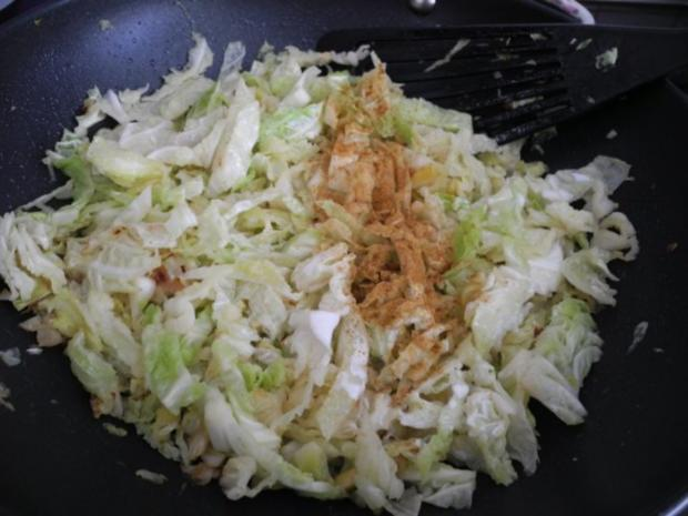 Gemüsebeilage : Wirsing in Sahnesauce - Rezept - Bild Nr. 4