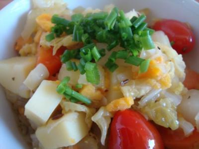 "Wirsing - Gemüse  ""Gulasch"" mit Balsamicosauce - Rezept"