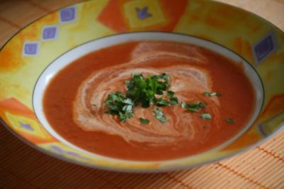 Kokos-Tomaten-Suppe - Rezept