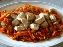 Thunfischwürfel im Wokgemüse-Bett - Rezept