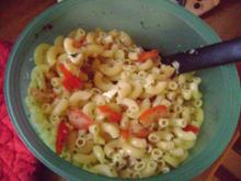 Mozzarella - Tomaten - Nudeln - Vegetarisch - Rezept