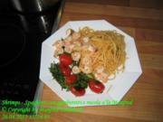 Shrimps - Spaghetti con gamberetti e rucola a'la Manfred - Rezept