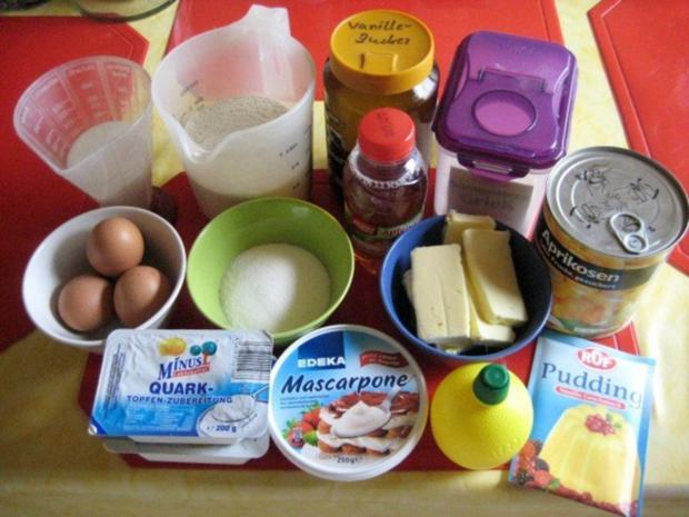 Käsekuchen - mit Aprikosen und Streusel - Rezept - Bild Nr. 2