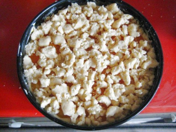 Käsekuchen - mit Aprikosen und Streusel - Rezept - Bild Nr. 12