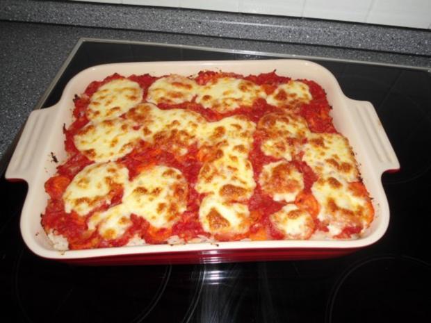reisauflauf tomate mozzarella rezept mit bild. Black Bedroom Furniture Sets. Home Design Ideas