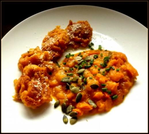 Kürbis-Ragout und Kürbis-Passatelli - Rezept