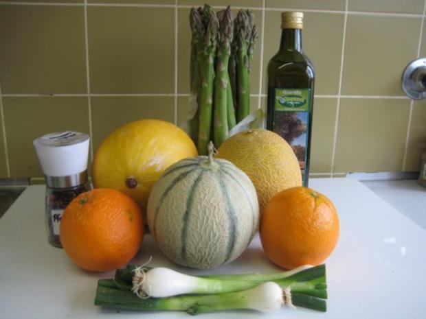 Spargel - Melonen - Salat - Rezept - Bild Nr. 4