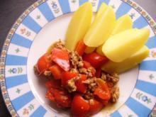 Hackfleischpfanne mit Paprikaschote - Rezept