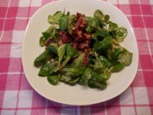 Feldsalat mit Rote Bete und Schinken - Rezept