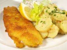 kartoffelsalat zum backfisch - Rezept