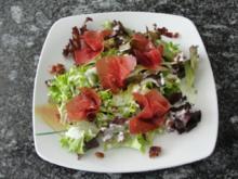 Pflücksalat mit Bündnerfleisch - Rezept