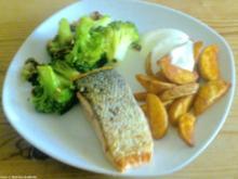 Lachsfilet mit Mandel-Brokkoli - Rezept