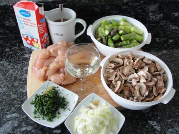 Hähnchenbrust mit Spargel - Rezept - Bild Nr. 2