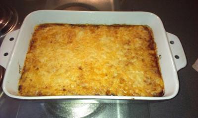 Auberginen-Zucchini-Hackfleisch-Auflauf - Rezept