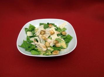 """""""Little Italy"""" - Caesar's Salade mit Hähnchenstreifen und Croutons - Rezept"""