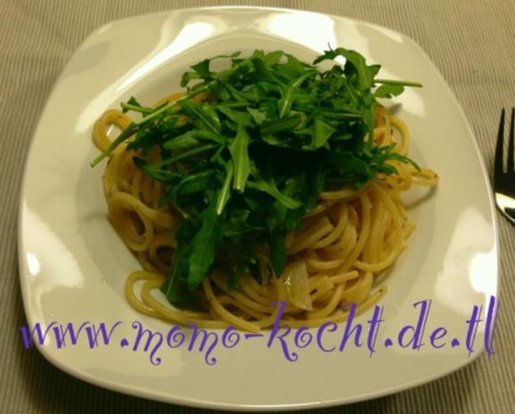 Spaghetti aglio olio e rucola - Rezept