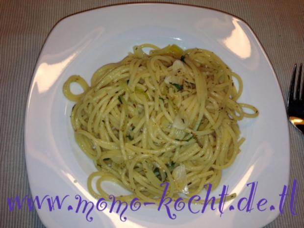 Spaghetti aglio olio e rucola - Rezept - Bild Nr. 4