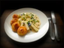 Pommes duchesses und Kohlrabi-Erbsen-Gemüse - Rezept