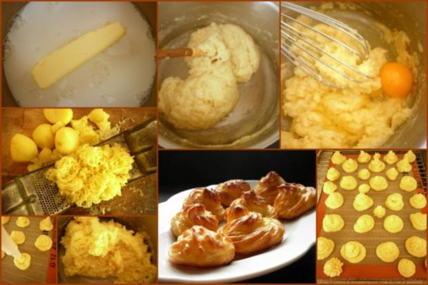 Pommes duchesses und Kohlrabi-Erbsen-Gemüse - Rezept - Bild Nr. 3