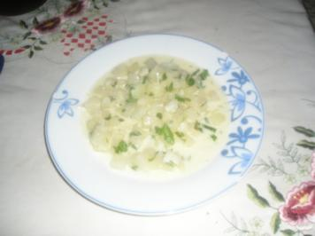 Kohlrabi mit Rahmsauce (eingemachter Kohlrabi) - Rezept