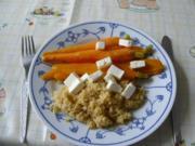 Gedünstete Möhren mit Couscous - Rezept