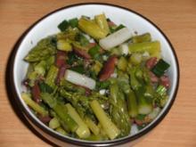 Salat: Spargelsalat mit Oliven und Sardellen. - Rezept
