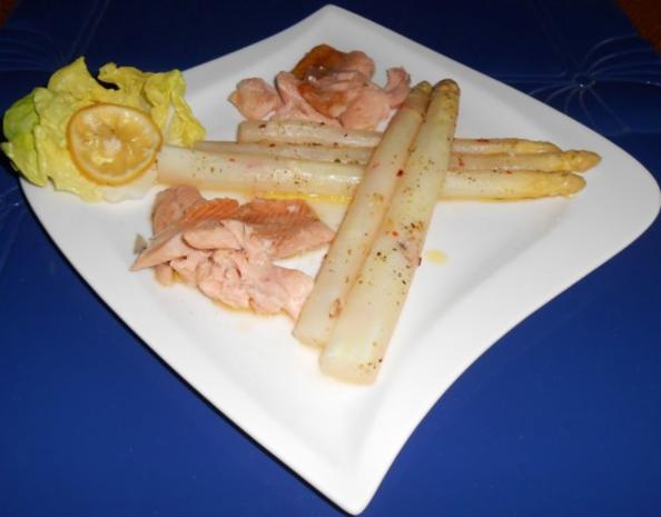 Spargel aus dem Ofen mit geräucherter Lachsforelle - Rezept - Bild Nr. 9