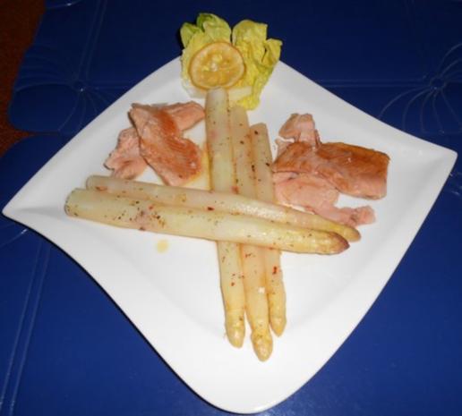 Spargel aus dem Ofen mit geräucherter Lachsforelle - Rezept - Bild Nr. 10
