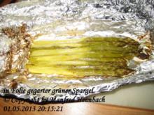 Spargel – grüner Spargel in der Folie aus dem Backofen - Rezept